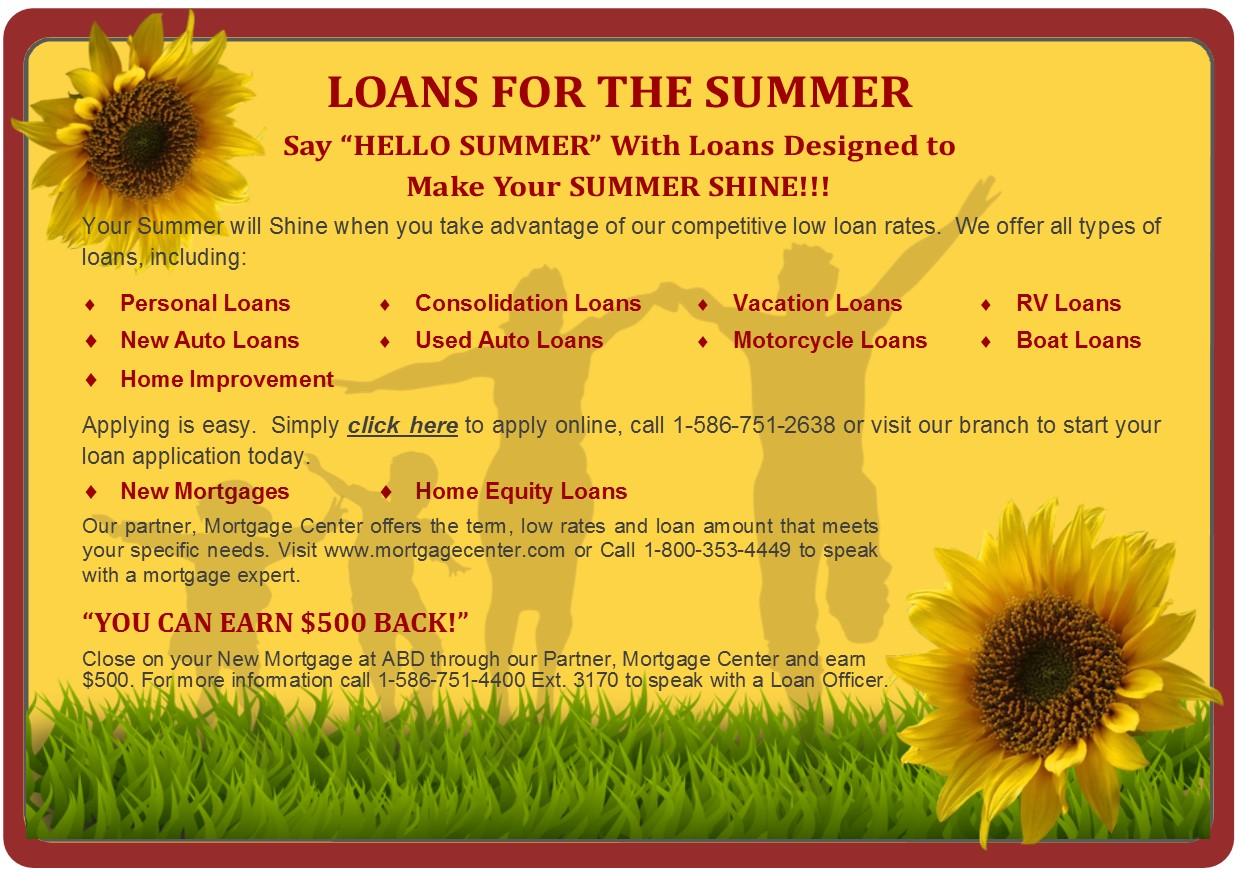 Loans for the Summer